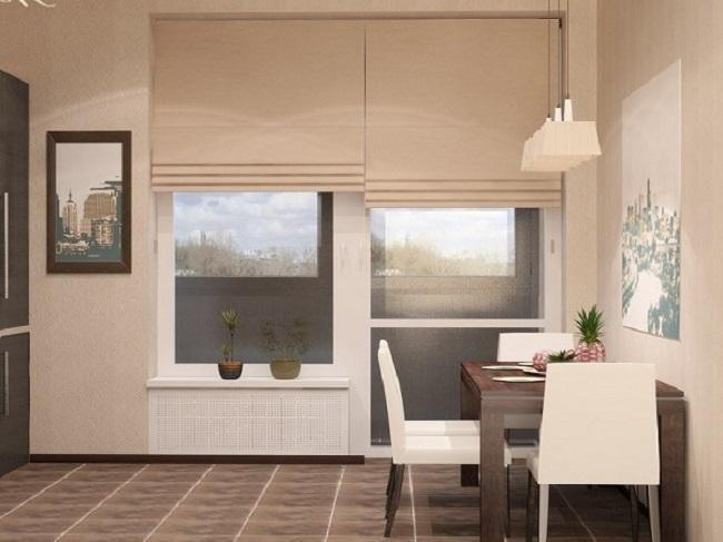 шторы на балконное окно.