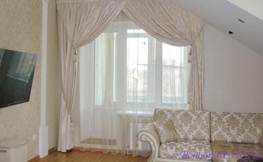 декор комнаты шторами.