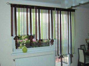 Чем украсить окно с балконом.