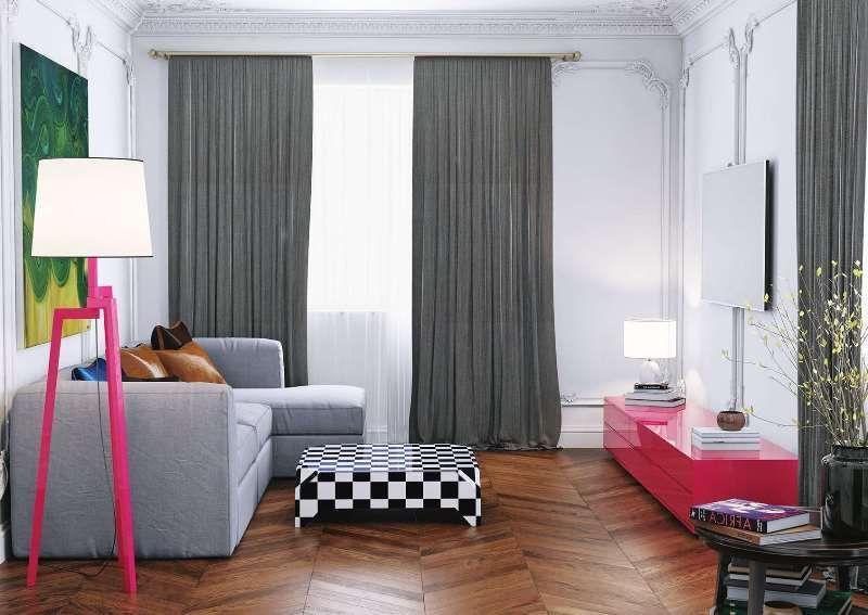 как подобрать шторы к маленькой комнате.