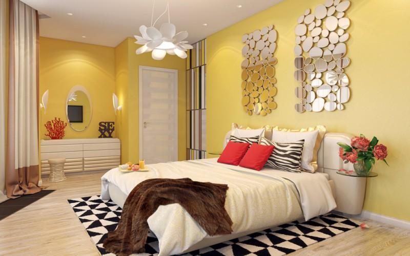 Как выбрать желтые шторы