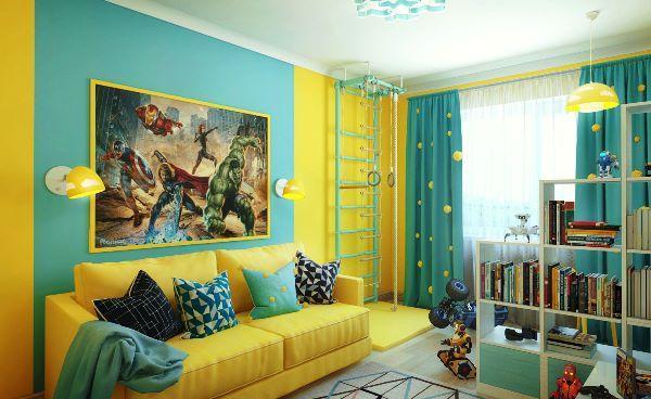 Желтые обои - какие шторы подойдут к солнечной гамме: 25 фото